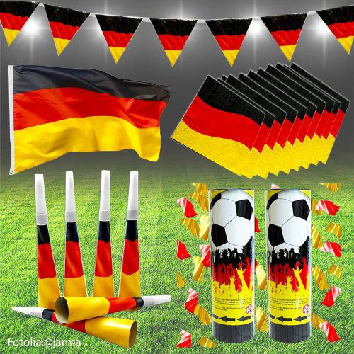 Deutschland deko fan set 21 teilig for Deutschland deko