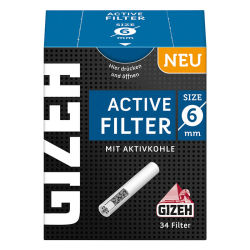 GIZEH Active Filter Aktivkohle 6mm 34er Box