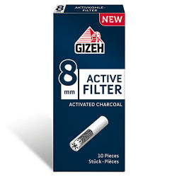 GIZEH Active Filter Aktivkohle 8mm 10er Box